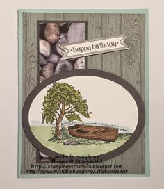 Stamping with Shelle: Moon Lake Birthday - CCMC347  http://stampingwithshelle.blogspot.com/2015/03/moon-lake-birthday-ccmc347.html  #moonlake #masculine #stampinup