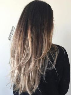 80 Cute Layered Hairstyles and Cuts for Long Hair - - Black To Ash Blonde Ombre Hair Ash Blonde Ombre Hair, Black To Blonde Hair, Long Ombre Hair, Blonde Balayage, Straight Ombre Hair, Medium Length Ombre Hair, Brown To Blonde Ombre Hair, Ash Ombre, Balayage Straight