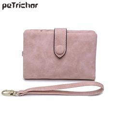 Luggage & Bags Wallets Original Trifold Money Phone Purse Hot Sale Women Frosted Pu Leather Wallet Bag Female Candy Colors Sweet Credit Card Holder