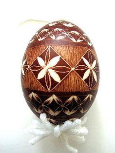 Slovenian Easter Eggs Photos: Scratched Slovenian Easter Egg, Drsanka Technique