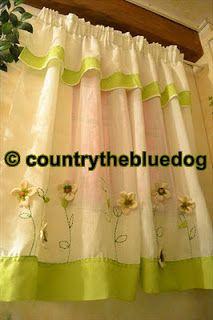 country the blue dog: tende country panna e verde