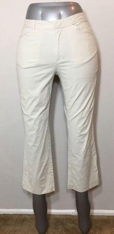 Old Navy Stretch Khaki Capri Pants Lightweight Crop Womens Size 4  | eBay