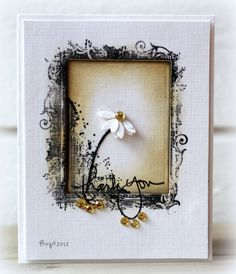 This week the challenge at Less is More´s blog is to use their header as the inspiration!    I hope this card will show my gratitude for...