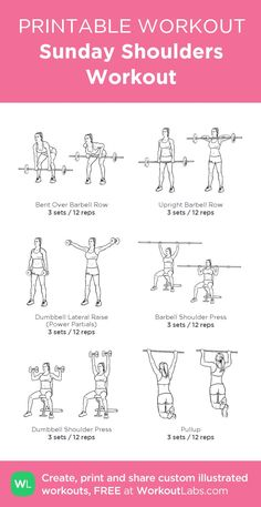 Sunday Shoulders Workout: my custom printable workout by @WorkoutLabs #workoutlabs #customworkout: