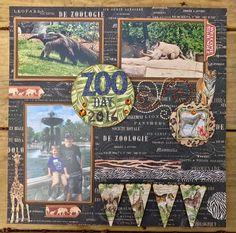 Angel Neisler-Collis Scrapbook Layouts facebook page Scrapbook Page Layouts, Scrapbook Albums, Scrapbooking Ideas, Zoo Pictures, Zoo Park, Jungle Safari, Vintage Scrapbook, Leopards, Scrapbooks