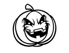 Dibujo de Calabaza Decorada de Halloween para Colorear  Dibujos