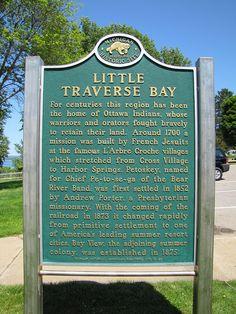 Little Traverse Bay Historical Marker by Eridony, via Flickr