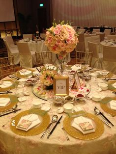 My VIP Table Gold Wedding