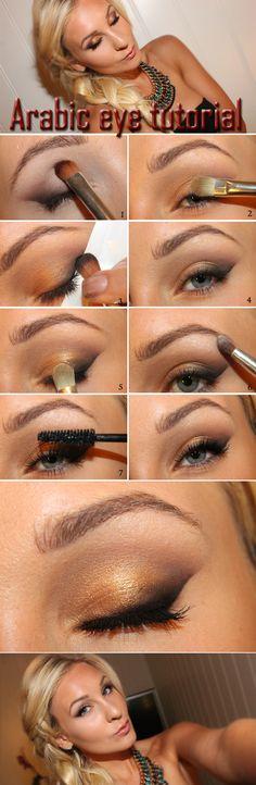 Arabic eyes tutorial   Helen Torsgården - Hiilens sminkblogg   Veckorevyn