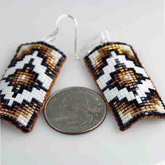 Native American Beaded Key Rings | American Indian Jewelry Gold Beaded Leather Earrings | eBay