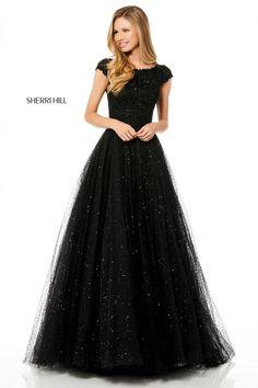 Sherri Hill Prom Dresses, Prom Dress Stores, Prom Dresses With Sleeves, Modest Dresses, Homecoming Dresses, Quinceanera Dresses, Sexy Dresses, Modest Black Dress, Graduation Dresses