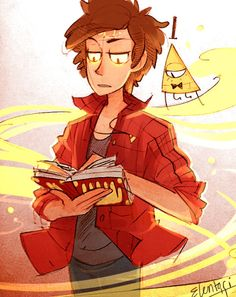 Dipper having a natural aptitude for magic is one of my favorite headcanons. Art by elentori on tumblr.