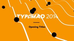 Typomad is a typography festival in Madrid, Spain. This year's theme was 'oculto' (or 'The Hidden Part of Type'). Calango was invited to produce this year's opening…