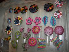 hand-painted decoupage earrings