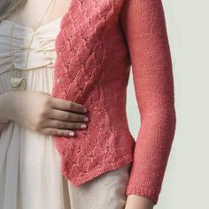 Lace fronts add a frilly touch to this delicate cardigan. With waist shaping and set-in sleeves, the Lepidoptera Cardigan adds a classy element to any outfit. Lightweight cardigans are just the thing for warm days; they're small enough to tuck into a bag and carry with you for whatever temperatures you encounter. Here are a few favorite lightweight cardigan knitting patterns for summer!