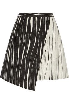 10bfac286f8 Raoul Cassia asymmetric wrap-effect jacquard skirt