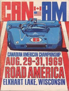 Can Am racing at Road America, Elkhart Lake, Wisconsin