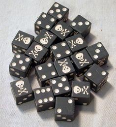 skull and crossbones dice