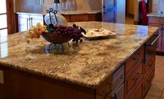 Laminate Countertop – brown colors.  I can't believe this counter is laminate!