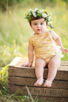 First Birthday Baby flower crown greenery succulents by AmoreBride Baby Flower  Crown 4853d4e3290