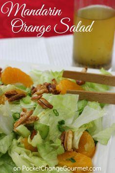 Mandarin Orange Salad   Recipe on PocketChangeGourmet.com