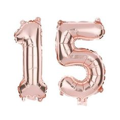 15 Non Floating Number Balloons