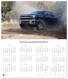 Silverado 2500HD 2015 Wall Calendar