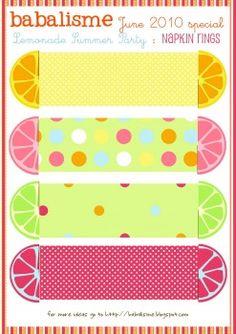 napkin rings for a lemonade party