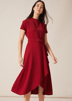 When in doubt? Wear a red dress. It's a style classic that will look great at any occasion and the sleeve, belt and ruffle detail on our Mylee dress make this style stand out from the rest. Phase Eight Fall Wedding Outfits, Autumn Wedding, Phase Eight, Belted Dress, Dress Making, Fitness Fashion, Classic Style, Ruffles, Looks Great