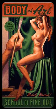 Paint Me - Vintage Tin Sign, Greg Hildebrandt