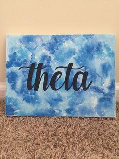 Watercolor Kappa Alpha Theta Canvas by ShopKaylieZander on Etsy https://www.etsy.com/listing/464963895/watercolor-kappa-alpha-theta-canvas