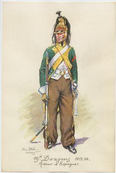 19e dragons 1813-1814 retour d'espagne