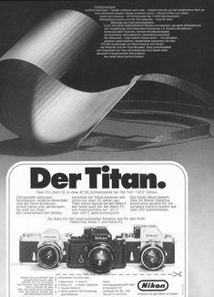 Nikon Titan, Werbung von 1973  