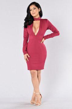 Good Intentions Dress - Wine