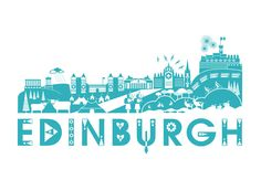 Edinburgh Skyline Print. $35.00, via Etsy.