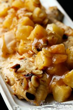 ~❈~Baked Pineapple Almond Chicken~~  -supper this week *** march 2014, not bad, kids didn't like it