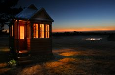 tumbleweed tiny house company and view at night a small tiny home