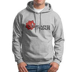 Bekey Mens Gears Of War 4 Poster Pullover Hoodie Jersey XXL Ash *** See this great product.