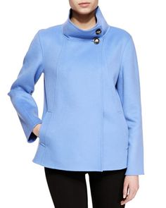 This is gorgeou$$$. Double-Face Cashmere Caban Coat by Armani Collezioni at Neiman Marcus.