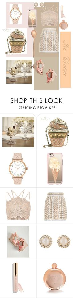 """""""Rich & Creamy"""" by alexis-joy ❤ liked on Polyvore featuring interior, interiors, interior design, home, home decor, interior decorating, Mary Frances Accessories, Kate Spade, Casetify and River Island"""