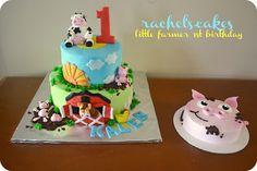 cute little farm cake www.facebook.com/the.rachels.cakes
