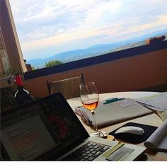 "WE CHOOSE THE LIFE WE LEAD.  This is a picture from a workspace in my ""previous"" fashion life.  It's in a villa...in Tuscany...overlooking a vineyard on a business trip to Florence.  And that wine...it's from the Vineyard.  And that computer...that was work! It was AMAZING y'all. But.  You know what? I'd choose the life that I lead today a million times over.  I work all over and often times I'm on my computer working with many of you from across the country and the world.  Brooklyn isn't a…"