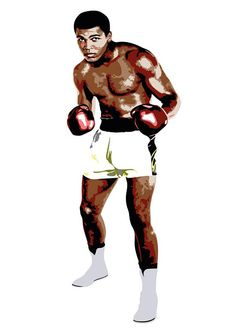 Details   Muhammad Ali, Cassius Clay, was an American professional boxer and activist. He is widely regarded as one of the most significant and celebrated sports figures of the 20th century. Digital Print - Sports Poster - Wall Art - Vector Illustration  ▬ ▬ ▬ ▬ ▬ ▬ ▬ ▬ ▬ ▬ ▬ ▬ ▬ ▬ ▬ ▬ ▬ ▬ ▬ ▬ ▬ ▬ ▬ ▬ ▬ ▬ ▬ ▬  Item Details All pieces are printed on 250gsm poster paper A3 with a silk finish.  A3 - 297 x 420 mm 11.7 x 16.5 in  ▬ ▬ ▬ ▬ ▬ ▬ ▬ ▬ ▬ ▬ ▬ ▬ ▬ ▬ ▬ ▬ ▬ ▬ ▬ ▬ ▬ ▬ ▬ ▬ ▬ ▬ ▬ ▬…