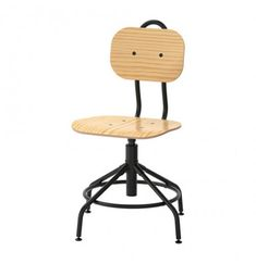 IKEA KULLABERG Swivel chair, pine, black