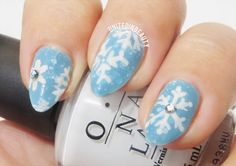 White snowflakes on a light blue background - So cute for winter!