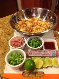 Nam Khao Toss Ingredients