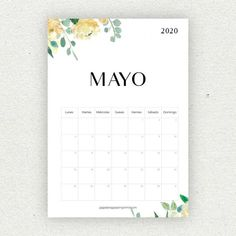 Calendario para imprimir 2020 - Papelería para Imprimir Bullet Journal School, Bullet Journal Inspo, Print Calendar, Calendar 2020, Diy Agenda, Bullet Journal Printables, Diy Gifts For Him, Simple Stories, Planner Pages