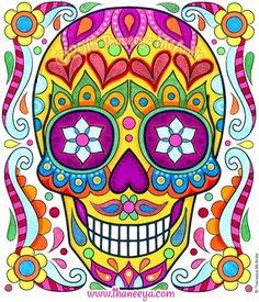 Sugar Skull from 2016 Posh Coloring Calendar by Thaneeya