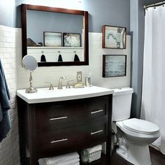 Check out this modern bathroom makeover! (via The 36th AVENUE)