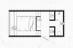 Stylish Tiny House and Writer's Retreat in Wales Tiny House Layout, Tiny House Cabin, Tiny House Design, House Layouts, Small House Plans, House Floor Plans, Apartment Therapy, Hotel Room Design, Micro House